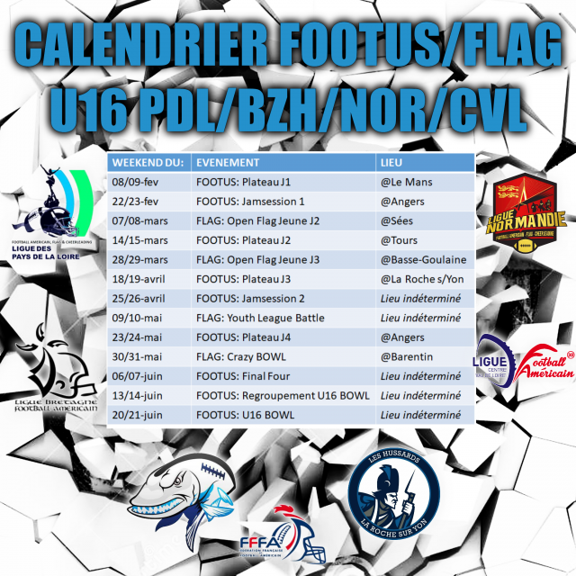 Calendrier-U16