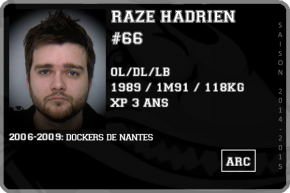 FOOT US-RAZE Hadrien