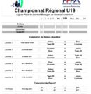 Voici le calendrier U19 Foot US!